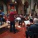 DSC00002c Ealing Symphony Orchestra rehearsal. 5th October 2019. Leader Peter Nall, conductor John Gibbons (Photo Anna Bucknall)