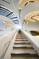Vienna University of Economics and Business (WayneG58) Tags: curves zahahadid stairs interior architecture businessschool austria vienna