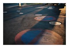 Viby J, Denmark. 2019. (csinnbeck) Tags: analog film c200 fuji fujifilm fujicolor canon primazoom 85n vibyj denmark viby aarhus 2019 color signs tarmac asphalt gas station 35mm j manhole covers cover
