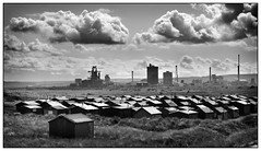 2019-1467a - Industrial decay. (johncheckley) Tags: d90 steelworks fishermanshuts mono teeside