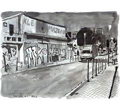 Ink05 (sylvain.cnudde) Tags: usk urbansketch urbansketcher urbansketching uskparis citysketch croquis sketch nightsketch nuit ville city banlieue suburb ink inktober