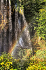 Rainbow Details (orkomedix) Tags: canon eosr croatia plitvice water trees phototrip waterfall rainbow color green