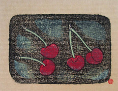 Cherry (Japanese Flower and Bird Art) Tags: flower cherry prunus rosaceae masayuki yoshimoto modern woodblock print japan japanese art readercollection
