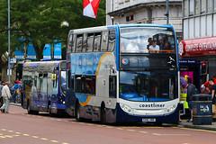 GX10 HBK, Commercial Road, Portsmouth, June 17th 2017 (Southsea_Matt) Tags: gx10hbk 15604 stagecoach southdown coastliner alexanderdennis adl enviro400 e400 commercialroad portsmouth hampshire england unitedkingdom june 2017 summer canon 80d bus omnibus vehicle transport