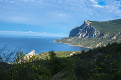 South coast of Crimea. Russia. (alexinspire2) Tags: sea sun water mountains road coast crimea russia побережье крым россия