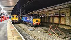 20s running round at Crewe (robmcrorie) Tags: 20107 20096 longport pinnox esso sidings crewe spoil class 20 stoke nikon d850 station 57308 thunderbird