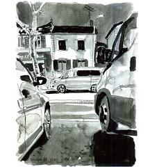 Ink03 (sylvain.cnudde) Tags: usk urbansketch urbansketcher urbansketching uskparis citysketch croquis sketch nightsketch nuit ville city banlieue suburb ink inktober