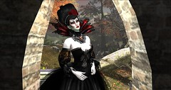 irrISIStible Halloween Vampire (sequaneresident1) Tags: irrisistible halloween vampire outfit maitreya belleza houglass slink autumn fall women clothes mesh dress fantasy hairs headpiece witch gown ballroom costume gloves necklace shop sl secondlife second life trick treat victorian appliers fancy gothic dracula nosferatu queen skin catwa teeths