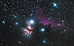 Horsehead and Flame (Jeff Rowton) Tags: ngc2024 flamenebula horseheadnebula orion barnard33 deepsky astrophotography gsmnp ic434 nightsky