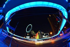 Shanghai - Elevated Walkway (cnmark) Tags: china shanghai zhabei district haining xizang road intersection night light joy city mall elevated walkway roof rooftop ferris wheel bright colored coloured nacht nachtaufnahme noche nuit notte noite 中国 上海 闸北区 大悦城 海宁路 西藏北路 ©allrightsreserved