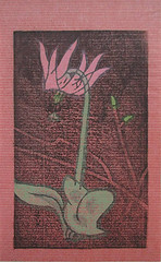 Japanese trout lily (Japanese Flower and Bird Art) Tags: flower trout lily erythronium japonicum liliaceae masayuki yoshimoto modern woodblock print japan japanese art readercollection