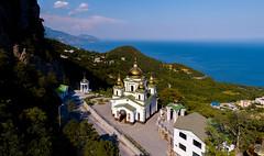 St. Michael's Church on the Sevastopol highway. Crimea, Russia. (alexinspire2) Tags: михайловскаяцерковь шоссе крым россия church highway crimea russia