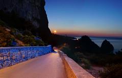 Before dawn. Crimea, Russia. (alexinspire2) Tags: dawn crimea russia россия sea sun water mountains road