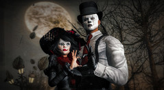 Sous la Lune (TheEmperor*) Tags: secondlife sl avatar moon fantasy halloween contraption antinatural mad arranmore clown lune
