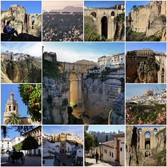 My best of Ronda - Spain (B℮n) Tags: ronda townhall riding horse plazaduquesadeparcent iglesiadesantamaríalamayor stmarymajorparish ayuntamientoderonda horsecarriage carriage oranges tree puentenuevo bridge andalusia spain old historical guadalevínriver gorge valley monumental romans andalucia viewpoint walks river canyon caminodelosmolinos mountains rocks eltajo provinceofmálaga sierradelasnievesnationalpark 50faves topf50 santamaría town plaza deep 120m arunda famous andalucía best collection collage finest mosaic