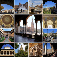 My best of Seville - Spain (B℮n) Tags: plazadeespaña sevilla seville spain landmark mooirsh fountains pavilions film starwars naboo attackoftheclones episodeii world exhibition government townhall andalusia andalucia olives historic buildings ponds walls benches spain's famous open square filmed spanje 50faves topf50 1929 wellknown aníbalgonzález architecture architectural masterpiece monument decorated ceramictiles young anakin padmé maríaluisapark horse horses carriage carriages horsedrawn fountain central fontein lasfuentes water best collection collage finest greatest mosaic