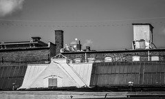 Rooftops (tim.perdue) Tags: newark ohio small town downtown square city urban decay street alley building licking county courthouse nikon d5600 nikkor 18140mm detail sign store storefront shop