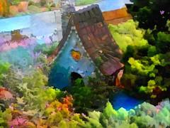 Fairy House (novice09) Tags: slidersunday hss fairyhouse covillpark redwing deepdreamgenerator painterly