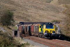 Something Borrowed, Something Green (Richie B.) Tags: 6j37 colas rail ais gill cumbria settle and carlisle railway freightliner general electric class 70 powerhaul 70015