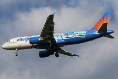 N228NV allegiant A320-214 at KCLE (GeorgeM757) Tags: n228nv allegiant a320214 speciallivery aircraft aviation airplane airport airbus kcle georgem757 canon70d landing