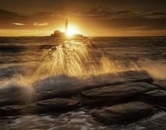 The House of the Rising Sun (Alex365pix) Tags: stmarys lighthouses landscape leefilters lightshade seascapes sunrise spray nikon northeastcoast tyneside northumberland