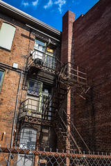 Alley Fire Escape (tim.perdue) Tags: newark ohio small town downtown square city urban decay street alley building licking county courthouse nikon d5600 nikkor 18140mm detail sign store storefront shop