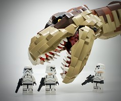 LEGO Stormtrooper T. rex