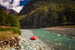 Journey to Isengard (Ryan Moyer) Tags: newzealand glenorchy lordoftherings isengard queenstown landscape scenics tranquility serenity adventure kayak river stream blue green day nature sony sonyalpha a7r a7riii