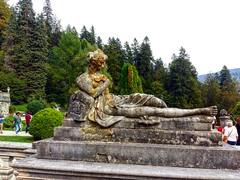 Statue (xandriaam) Tags: nature deadnature statue statues romania ro sinaia pelescastle fall architecture trip travel old history monument peles garden forest