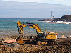Big cats like it around here. (HivizPhotography) Tags: cat caterpillar excavator 374f lme heavy earthmoving equipment construction dirty plant hire flannery aberdeen harbour expansion ahep scotland uk digger tracked machine north sea