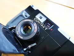 Contax T 35mm film rangefinder camera Carl Zeiss lens (8) (nefotografas) Tags: contaxt rangefinderfilmcamera 35mmfilm carlzeisslens sonnar38mm
