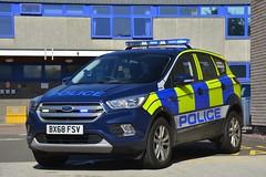BX68 FSV (S11 AUN) Tags: leicestershire police ford kuga 4x4 incident commander rural panda car response vehicle irv 999 emergency bx68fsv