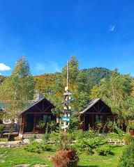 Bicaz (xandriaam) Tags: mountains nature fall bluesky romania ro bicaz green forest travel trip trees