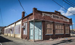 Ols Bowling Alley (tim.perdue) Tags: newark ohio small town downtown square city urban decay street alley building licking county courthouse nikon d5600 nikkor 18140mm detail sign store storefront shop