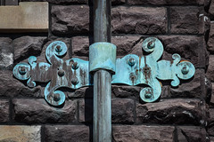 Ornamental Downspout (tim.perdue) Tags: newark ohio small town downtown square city urban decay street alley building licking county courthouse nikon d5600 nikkor 18140mm detail sign store storefront shop