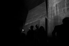 Shot In The Dark (Sean Batten) Tags: london england unitedkingdom blackandwhite bw nikon d800 1424 royalacademy city urban candid people shadow