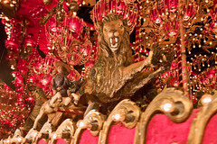 Scarlet (jkotrub) Tags: travelwisconsin discoverwisconsin explorewisconsin color colorful coloring2019 colour coloring scarlet gold lion red pink mechanical shiny gaudy carousel random thehouseontherock houseontherock ornate spin round