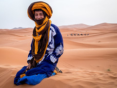 Berber in the Sahara Desert (graham2034) Tags: berber sahara desert sand morocco dunes camels