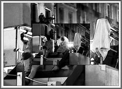 3 - Paris - Nuit Blanche et entours - Parade, Shana Moulton - Feed the soul (melina1965) Tags: octobre october 2019 îledefrance paris panasonic lumix dmctz57 nuitblanche mosaïque mosaïques mosaic mosaics collages collage noiretblanc blackandwhite bw 4earrondissement 75004 lumière light nuit night