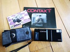 Contax T 35mm film rangefinder camera Carl Zeiss lens (1) (nefotografas) Tags: contaxt rangefinderfilmcamera 35mmfilm carlzeisslens sonnar38mm