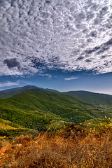 Looking at the destination (ndrearu) Tags: mount pisa tuscany toscana mountain outdoor outside hdr focus stacking stack canon 6d blue colors yellow panorama vertical pano