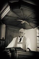 038 (boeddhaken) Tags: backintime timetravel 1900 1900s blackwhite bw retro retrostyle museum priest church preach