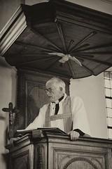 036 (boeddhaken) Tags: backintime timetravel 1900 1900s blackwhite bw retro retrostyle museum priest church preach