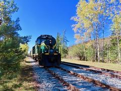 Ready To Run South (ironmike9) Tags: track rail rr railroad railway train passenger scenery foliage autumn fall adirondacks adix adirondackscenicrr bigmooseny mlw locomotive rs18u