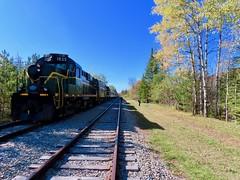 Big Train At Big Moose (ironmike9) Tags: track rail rr railroad railway train passenger scenery foliage autumn fall adirondacks adix adirondackscenicrr bigmooseny mlw locomotive rs18u