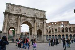 Arch of Constantine (~gio~) Tags: archofconstantine italy romanempire romanrepublic rome ancient architecture classicalarchitecture colosseum streetscene triumphalarch triumph martial warrior conqueror empire