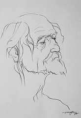 (Gasheh) Tags: art painting drawing sketch portrait old man line pen gasheh 2019