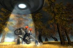 wear helmets, drive safe (Mara Telling:) Tags: sl secondlife halloween ufo bike focuscontest