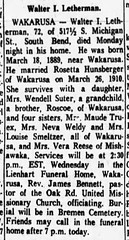 1961 - Walter Letherman obit - South_Bend_Tribune_Tue__Dec_26__1961_
