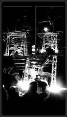 9 - Paris - Nuit Blanche et entours - Parade, Vivien Roubaud - Sucre cristal n°3, écoulement laminaire, courant alternatif, atmosphère modifiée (melina1965) Tags: octobre october 2019 îledefrance paris panasonic lumix dmctz57 nuitblanche mosaïque mosaïques mosaic mosaics collages collage noiretblanc blackandwhite bw 4earrondissement 75004 lumière light nuit night